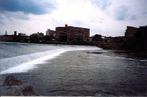 Lehigh River Dam and Easton PA